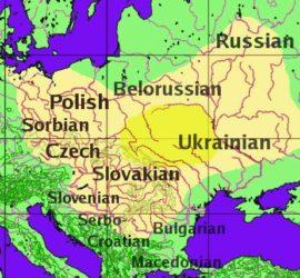 Вероятный ареал распространения праславянского языка
