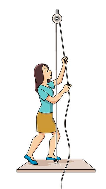 Что - или кого воспитывает женщина на иллюстрации?